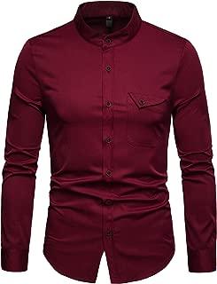 Best wine red mens dress shirt Reviews