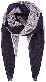 Intrigue Womens/Ladies Bordered Abstract Floral Pleated Scarf