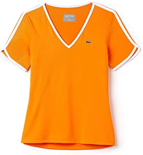 Lacoste T-Shirts For Women, Orange 38 EU, Size 38 EU