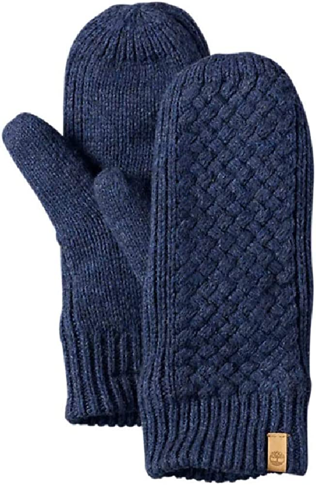 Timberland Womens/Ladies Sea Street Waffle Mittens (One Size) (Navy)