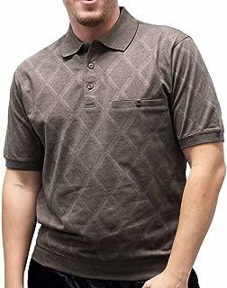 Banded Bottom Safe Harbor Diamond Short Sleeve Shirt 6190-149