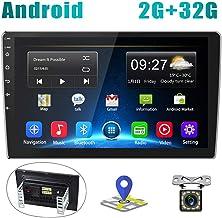 Radio de Coche Android 2G+32G Pantalla Táctil de 10 Pulgadas Estéreo GPS CAMECHO 2 DIN Bluetooth WiFi Sat Navi FM Enlace de Espejo de Teléfono Móvil Video USB Dual para Automóvil + Cámara