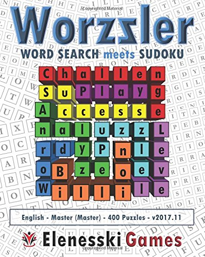 Worzzler (English, Master, 400 Puzzles) 2017.11: Word Search meets Sudoku