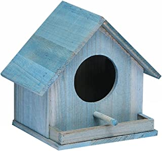 XQF Nichoir à Oiseaux Nichoir Cabane Jardin Exterieur Cabane A Oiseaux Exterieur Mangeoire à Oiseaux Suspendue à L'Extérie...