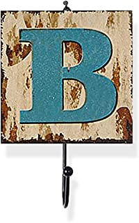Outgeek Letters Wall Hook, Hanging Hook Iron Letters A to Z Wall Hook Room Hook for Home