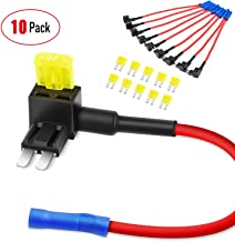 Nilight 10 Pack Micro 2 Fuse TAP 12V Car Add a Circuit ATR Blade Fuse Adapter with 20A Fuse Micro II Fuse Holder Add On Du...
