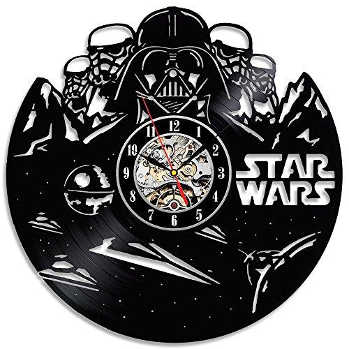 Handmade Star Wars Black Vinyl Wanduhr Geburtstags-Geschenk