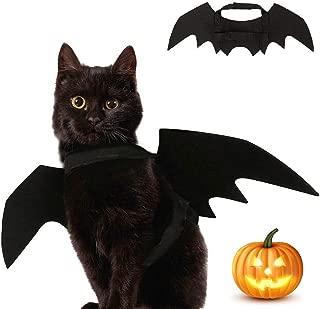 XFCS Pet Halloween Bat Wings Costume, Cat Small Dog Bat Wings Halloween Cosplay Costume Patty Clothes