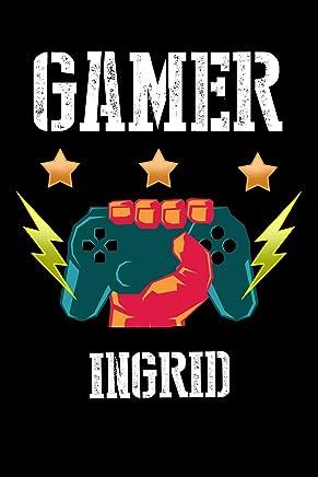 Gamer Ingrid: Kariertes Notizbuch mit 5x5 Karomuster für deinen personalisierten Vornamen