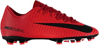 Official Nike Mercurial Vapor Firm Ground Football Boots Juniors Red/Black Soccer Cleats