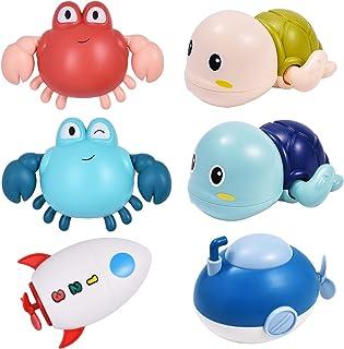 TOHIBEE Bath Toys, 6 Pcs Bath Toys with Bathtub Toys...