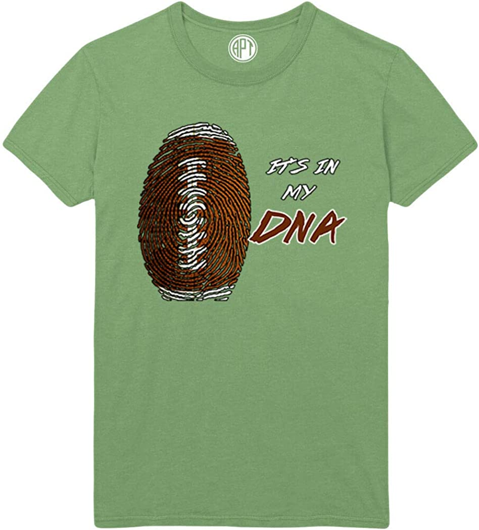 Football It's in My DNA Printed T-Shirt - Dill-Green - XLT