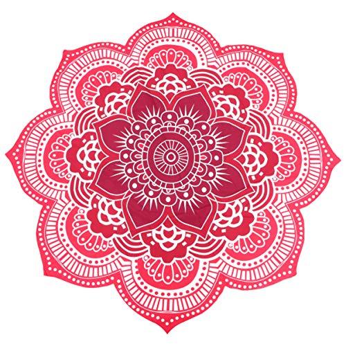 Pixnor Mandala Runde Lotus Strand werfen Gobelin Decke Wolldecke Hippie Boho Zigeuner Tischdecke Strandtuch Runde Yoga Matte lila