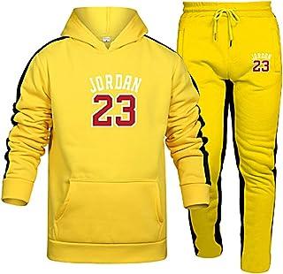 Unisex Tracksuits Set Basketball Sweatshirts Hoodies Trousers 23# Jordan Sportswear Basketball Jerseys Casual Gym Sports R...