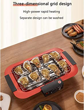 1800W Barbecue Oven Household Electric Grill 220V Smokeless Indoor DIY Kebab BBQ Grill Non-Stick Cookware