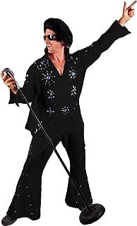 Men's Professional Rock N' Roll King Elvis Jeweled Jumpsuit Cape Costume