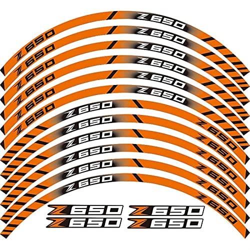 Vende la Etiqueta de la Rueda de la Motocicleta 7 Estilo de la Rueda de la llanta del llanto del neumático para BMW F800GT Pegatina Reflectante a Prueba de Agua (Color : Orange)