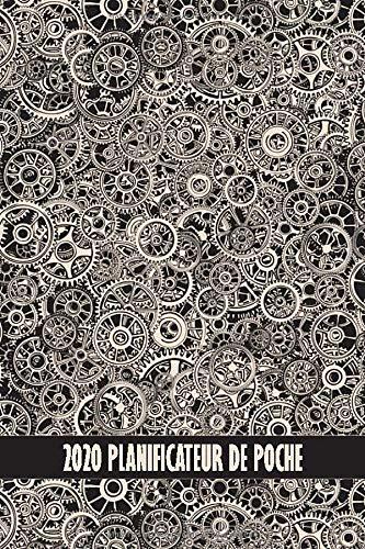 2020 planificateur de poche: engrenages steampunk | Un an | Parfait pour sac à dos ou bourse | Horaires de travail | vues quotidiennes | aperçu ... cadeau pour les étudiants ou les enseignants