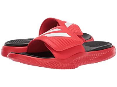 adidas Alphabounce Basketball Slides (Active Red/Footwear White/Core Black) Men