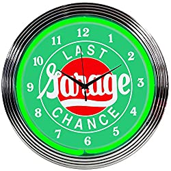 Neonetics Cars and Motorcycles Garage Neon Wall Clock, 15
