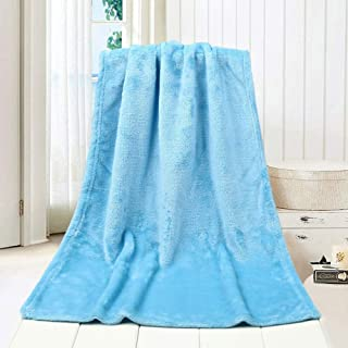 Home,Garden,Home Textiles,Super Soft Warm Solid Warm Micro Plush Fleece Blanket Throw Rug Sofa Bedding 100*150cm Flannel Bath Towel Sky Blue