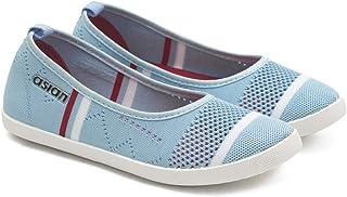 ASIAN Women's Alexa Navy Beige Casuals,Walking Shoes,Bellies,Canvas Shoes,Slipon Shoes