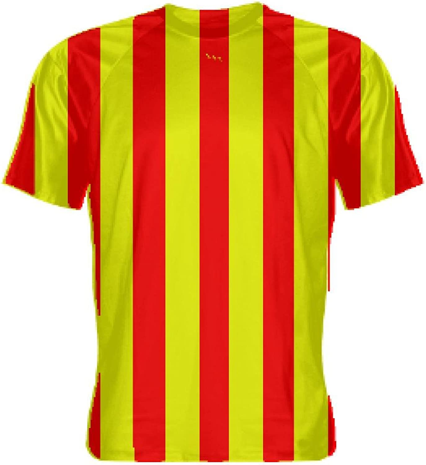 LightningWear Red and Yellow Striped Soccer UniformsStriped Soccer Shirts