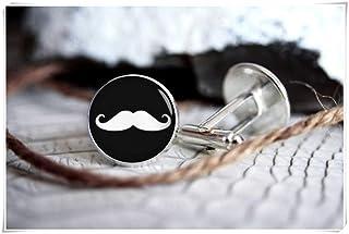 Gemelos con bigote de la familia We are Forever Family, personalizados, regalos para hombres, gemelos de boda, adornos de ...