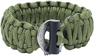Men's Paracord Bracelet With Firestarter & Braided - Paracord Survival Bracelet - Survival Jewelry with Braided Firestarter By Paracord Planet - Military Grade Men's Bracelet, Paracord bracelet military - Premium Quality Outdoor Gear - Perfect f