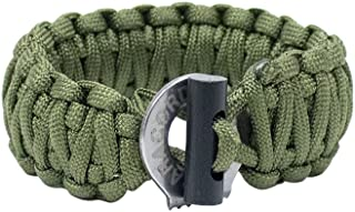 Men's Paracord Bracelet With Firestarter & Braided - Paracord Survival Bracelet - Survival Jewelry with Braided Firestarter By Paracord Planet - Military Grade Men's Bracelet, Paracord bracelet military - Premium Quality Outdoor Gear - Perfect for Rugged Male Fashion - Emergency Survival Gear