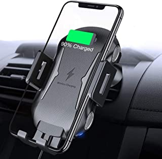 Car Wireless Charger Mount Compatible with LG V40 ThinQ Phone, Air Vent Holder Fast Charge Cradle Dock Auto Sensor 10W and 7.5W AC Louver for V40 ThinQ Model