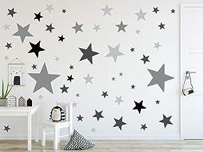 timalo® 73079-SET22-120, wandtattoo, kinderkamer, XL, sterren pastel, 120 stuks