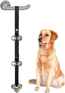 CandyHome Potty Dog Doorbells Housetraining Dog Bell Dog Bells for Potty Training Your Puppy Doggie with Doorbell, Easy 95% Success Rate, Black