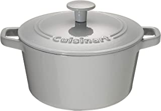 Cuisinart Chef's Classic Enameled Cast Iron 3-Quart Round Covered Casserole, Enameled Cool Grey