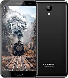 OUKITEL OK6000 Plus Unlocked Smartphones, 5.5 '' FHD MT6750T Octa-Core, 4GB RAM 64GB ROM Unlocked Cell Phones, 16MP Cameras, 6080mAh Big Battery, Dual Sim, Fingerprint Recognization-Black