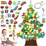 Sunshine smile Arbol de Navidad de Fieltro,Arbol de Navidad Calendario de adviento,arbol de Navidad de Fieltro DIY,Felt Christmas Tree,arbol de Fieltro Navidad Regalo para Niños (A)