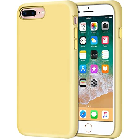 Anuck Case for iPhone 8 Plus Case, for iPhone 7 Plus Case 5.5 inch, Soft Silicone Gel Rubber Bumper Case Microfiber Lining Hard Shell Shockproof ...
