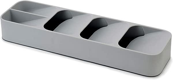 Joseph Joseph 85119 DrawerStore Kitchen Drawer Organizer Tray For Cutlery Silverware Gray