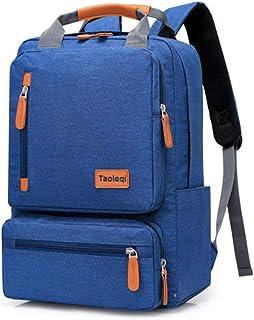 HEHE Mochila Impermeable Paquete Portátil Mochila para Bolsa De Viaje De Las Mujeres De Los Hombres De La Mano, Azul