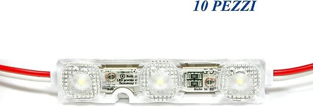10 módulos de 3 LED 2835 GOQ Samsung 1,08 W 12 V DC ANG. 175 ° Impermeables IP68 para señalizaciones luminosas