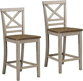 Standard Furniture Fairhaven Counter Height Barstool, Grey, Grey