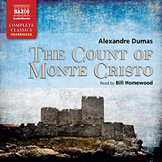 The Count of Monte Cristo                   By:                                                                                                                                 Alexandre Dumas                               Narrated by:                                                                                                                                 Bill Homewood                      Length: 52 hrs and 41 mins     6,491 ratings     Overall 4.7