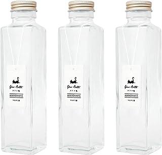 ガラス瓶角型150ml×3本セット (スクリューキャップ付) ハーバリウムに最適