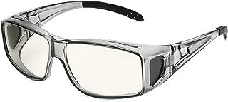 Fit Over Blue Light Blocking Glasses, Computer Gaming Eyeglasses Wear Over Prescription & Reading Glasses, Sleep Better, A...