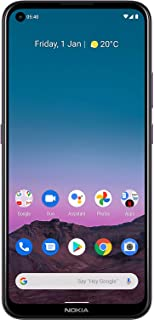 Nokia 5.4 | Android 10 | Unlocked Smartphone | 2-Day Battery | Dual SIM | US Version | 4/128GB | 6.39-Inch Screen | 48MP Q...