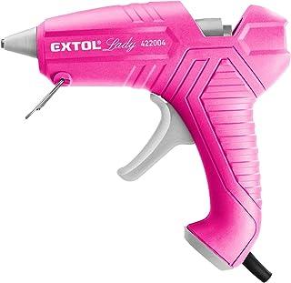 Extol Lady 422004 Pistolet à colle chaude Rose 40 W Buse fine (10 g/min) + 3 bâtons de colle Ø 11 mm