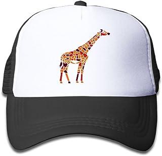 f4df7fbbca2b1 Sun Mesh Baseball Caps Youth Protection Hat Red Giraffe Unisex