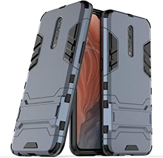 FanTing Case for Oppo Reno Z, Rugged and shockproof,with mobile phone holder, Cover for Oppo Reno Z-Dark Blue