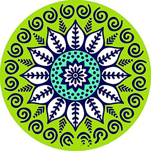 ABCABC Esteras de Cocina Cerámica Cerámica Posavero Redondo Mandala Flower Impreso Antideslizante Aislado Aislado Mat Suplementos de Boda (Color : 3)