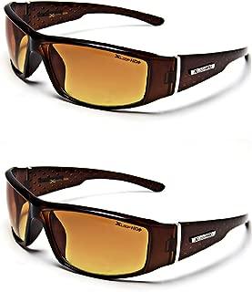 HD Vision Anti-Glare Driving Glasses X-Loop 2 PACK w/ Free Micro Fiber Bag